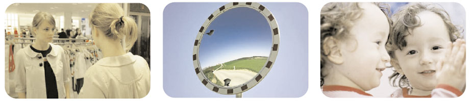 mirrors used as safety mirros